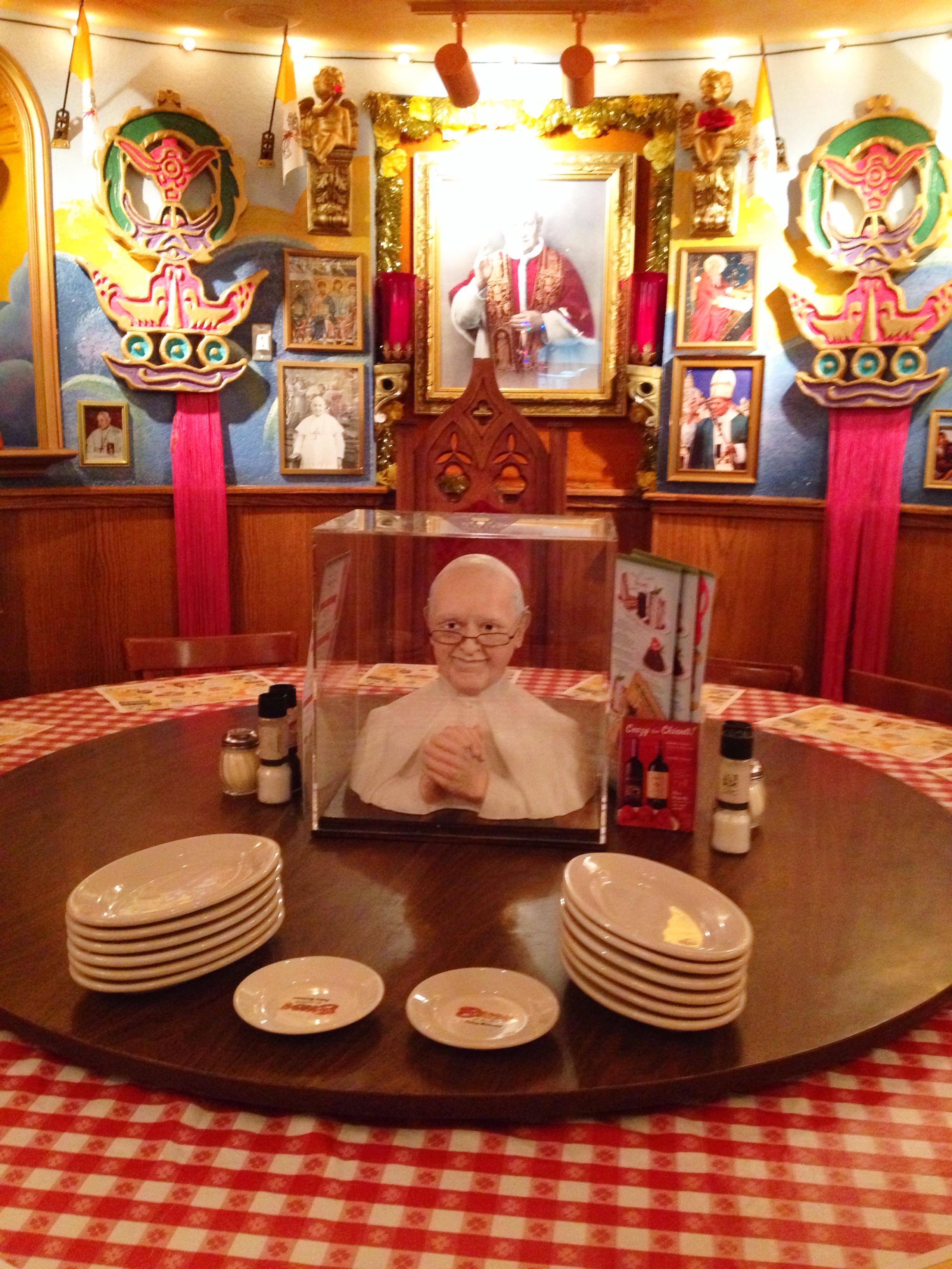 Buca di beppo 52 week 39 s of marie 39 s life - Buca di beppo pope table ...